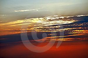 Vibrant Sunset Sky, Royalty Free Stock Image - Image: 15563516