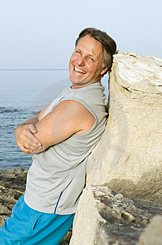 Happy Smiling Outdoor Man Stock Photography - Image: 15564002
