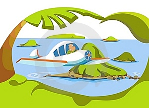 Man Flying On A Plane Stock Images - Image: 15564144