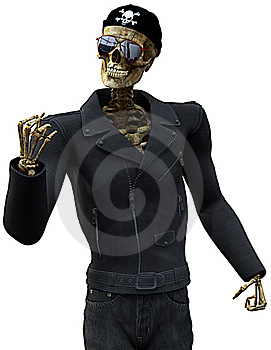 Skeleton Rider Royalty Free Stock Photo - Image: 15565315