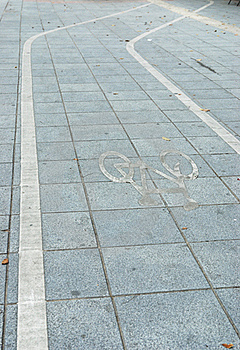 Channel For Bicycle Specific Safety Of The Driver Stock Photography - Image: 15567362