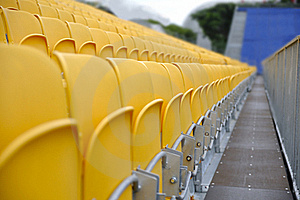 Spectator Seats And Walkway Royalty Free Stock Image - Image: 15568126