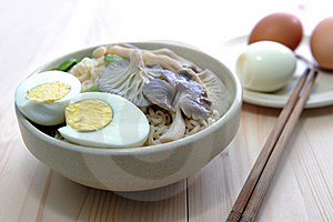 Delicious Noodle And Eggs Royalty Free Stock Photo - Image: 15571765