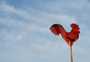 Red Rooster Sign  Royalty Free Stock Photos - Image: 15571858