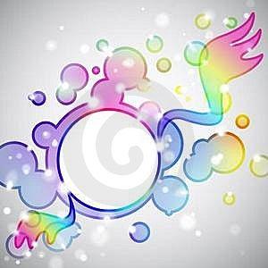 Rainbow Angel Royalty Free Stock Photo - Image: 15572435