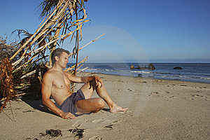 Beach Vagabond Castaway Royalty Free Stock Photography - Image: 15572607