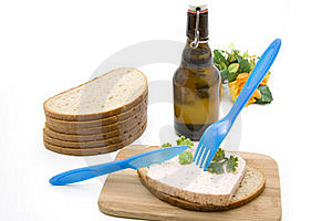 Bread With Beer Bottle Stock Photos - Image: 15573413