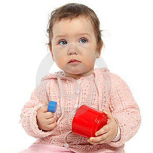 Baby Girl Playing With Toys Stock Photography - Image: 15574002