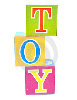Word Toy Spelled Out In Baby Blocks Royalty Free Stock Photography - Image: 15574777