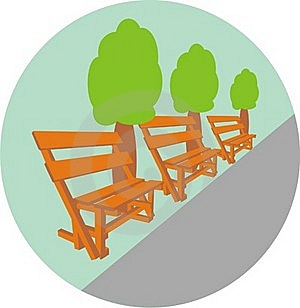 Benches In Park Stock Photo - Image: 15575080