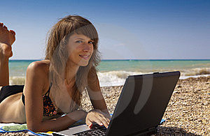 Wi-fi On The Beach Stock Photos - Image: 15577393