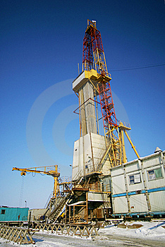 Oil Derricks Stock Photo - Image: 15577810