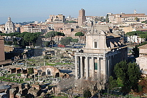 Italy Monumental View Of Rome Royalty Free Stock Photo - Image: 15578455