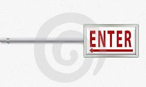 Enter Board Stock Image - Image: 15580491