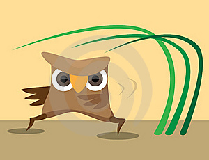 Karateka Owl Perform Sport Exercises Stock Images - Image: 15580954