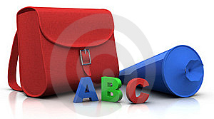 Satchel And 'schultuete' And ABC Stock Image - Image: 15581271