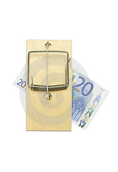 Mousetrap And Euro Bill Royalty Free Stock Image - Image: 15581636