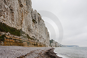Cliffs On The Coast. Mist Royalty Free Stock Photo - Image: 15583325