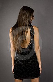 Girl In Black Dress Stock Photos - Image: 15583413