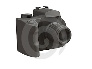 3d Render Of DSLR Camera Stock Photos - Image: 15583493