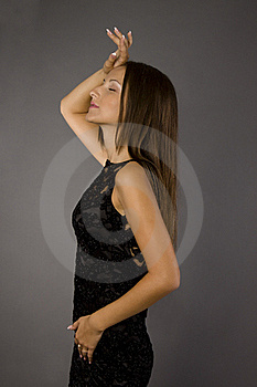 Girl In Black Dress Royalty Free Stock Image - Image: 15583906