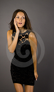Girl In Black Dress Royalty Free Stock Photo - Image: 15583995