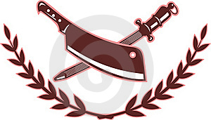 Butcher's Knife Blade Sharpener Royalty Free Stock Photo - Image: 15585035