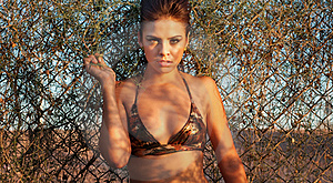 Sexy Beautiful Woman In Wild Desert Landscape Stock Images - Image: 15585494
