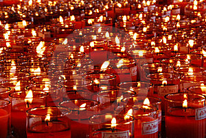 Cup Of  Red Candle Royalty Free Stock Image - Image: 15586786