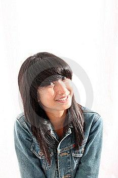 Smiling Asian Woman Royalty Free Stock Image - Image: 15590496