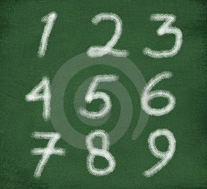 Sketch Of Numbers Stock Images - Image: 15592934
