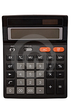 Black Calculator Royalty Free Stock Photo - Image: 15593035