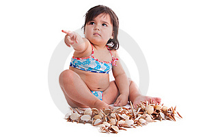 Little Girl In Swimming Suit Royalty Free Stock Image - Image: 15595176