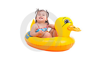 Lovely Child With Air-toy Stock Photo - Image: 15595310