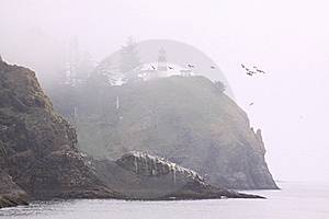 Cape Disappointment Lighthouse 1 Royalty Free Stock Images - Image: 15595489