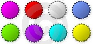 Color Bottle Caps Stock Photos - Image: 15595943