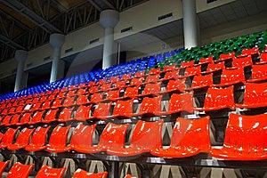 Bright Red Stadium Seats Royalty Free Stock Photo - Image: 15598225