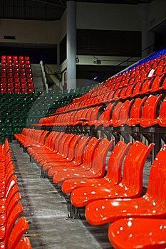 Bright Red Stadium Seats Royalty Free Stock Photo - Image: 15598235