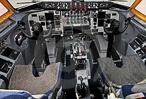 Airplane Cockpit Stock Photo - Image: 15598690