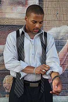 Man Getting Dressed Royalty Free Stock Image - Image: 15599076