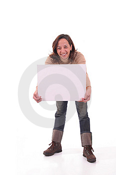 Woman with card I Royalty Free Stock Photos