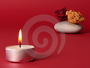 Romantic Candle Royalty Free Stock Photography - Image: 1563737