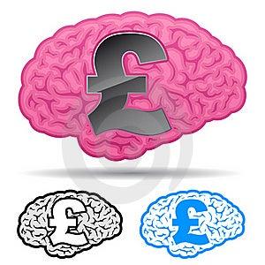 Brain With British Pound Symbol Stock Images - Image: 15602814