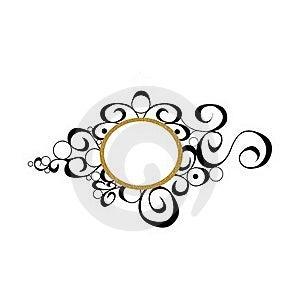 Gold Black Decorative Background Royalty Free Stock Photo - Image: 15602835