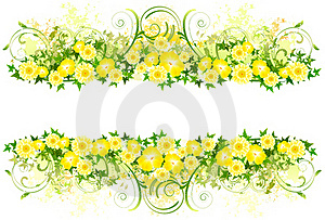 Floral Decoration With Yellow Flowers Royalty Free Stock Photography - Image: 15602857