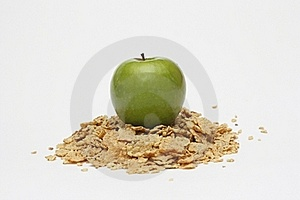 Apple And Cereals Royalty Free Stock Images - Image: 15603989