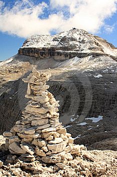 The Summit Of Piz Boa With A Cairn Stock Photos - Image: 15604703