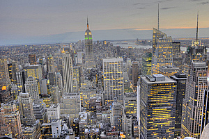 Midtown Manhattan Skyline Royalty Free Stock Photography - Image: 15606467