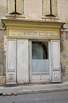 Coiffeur Shop Frontage Stock Photography - Image: 15606802