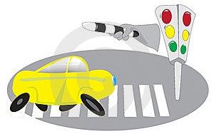 Cars, Traffic Lights, Pedestrian Crossing Stock Image - Image: 15608021